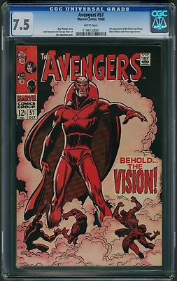 Avengers #57 CGC 7.5 - White Pages (First Appearance Vision)