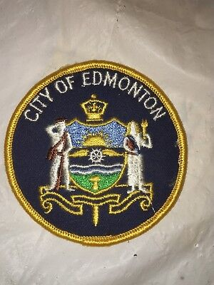 vintage city of Edmonton sew on patch