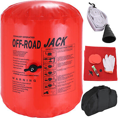 4T Ton Exhaust Inflatable Air Jack Bag Gas Car Vehicle Truck Rescue 11 Tools Set