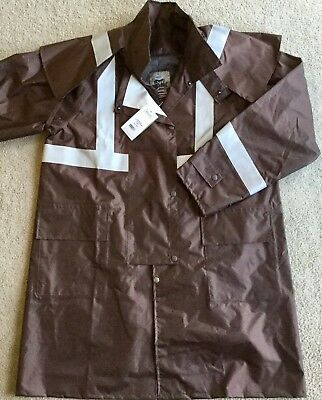 "Genuine ""driza-Bone"" Long Workwear-Hi Viz Jacket (Cotton Lining) ""size L"""