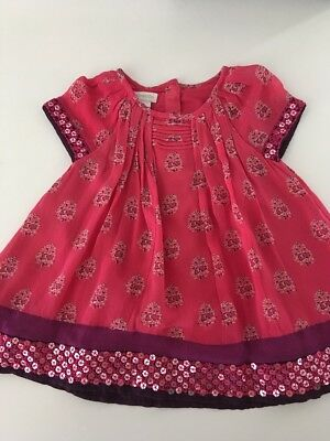 Monsoon, Beautiful Baby Girls Dresses. Generous Sizing and Fit 1 Year Old.