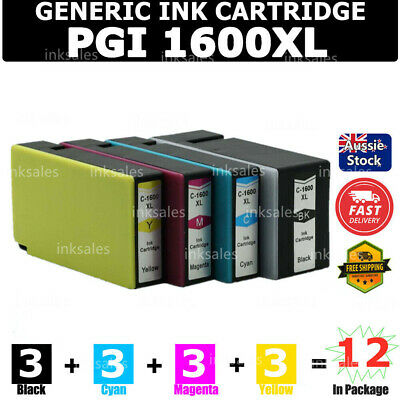 12 Canon PGI1600XL PGI 1600XL ink Cartridge For MB2060 MB2360 MB2760 MB2160
