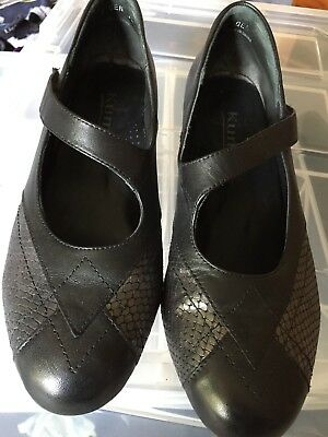 Kumfs/ Ziera ladies shoes - black and silver - barely worn euro 39 8au