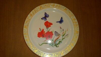 LENOX Collector Plate Butterflies & Flowers Ltd Ed Sonoran Blue Butterfly