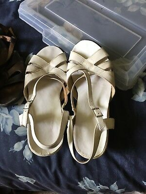Kumfs ladies shoes - white but scuffed - new soles euro 39 8au