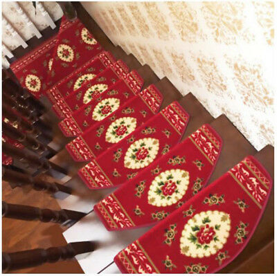 D32 5PCS Skid Resistance Household Step Rug Stair Tread Mat Carpet 75X24CM Z