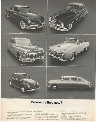 """Original 1970 Volkswagen VW Beetle """" Where are they now? """" magazine ad"""