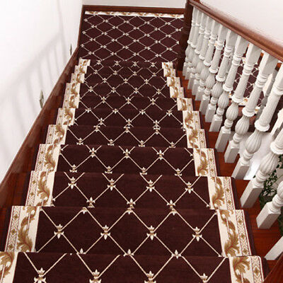 D6 5PCS Skid Resistance Stair Tread Mat Household Step Rug Carpet 30X100CM Z