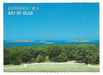 WA - c1970s POSTCARD - VIEW OF ISLES FROM ROTARY LOOKOUT, ESPERANCE, WA