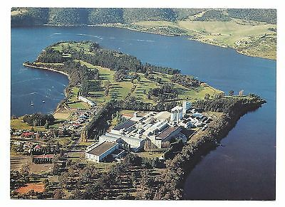 TAS - c1970s POSTCARD - AERIAL VIEW OF THE CADBURY FACTORY, CLAREMONT, TASMANIA