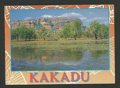 NT - c1980s POSTCARD - OVERLOOKING THE WETLANDS TO NOURLANGIE ROCK, KAKADU, NT