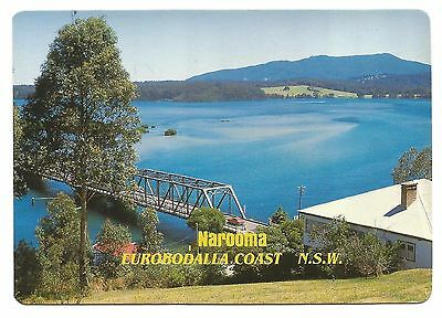 NSW - c1980s POSTCARD - WAGONGA RIVER LOOKING TO MT DROMEDARY, NAROOMA, NSW
