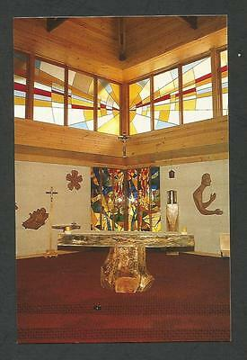 WA - c1970s POSTCARD - MAIN ALTAR, LUMEN CHRISTI CATHOLIC CHURCH, AUGUSTA, WA