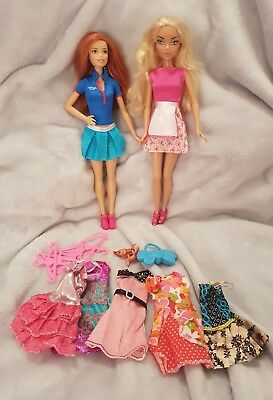 Barbie dolls shoes and clothes bulk lot pre loved   #12