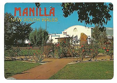 NSW - c1980s POSTCARD - RSL CLUB & ROSE GARDEN, MANILLA, NEW SOUTH WALES
