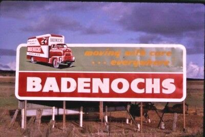 1960's 35 Mm Colour Slide Badenochs Transport Movers Bill Board Sign  S.a. B43