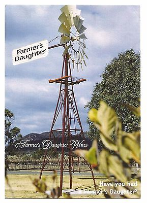 NSW - c1990s POSTCARD - FARMER'S DAUGHTER WINES, MUDGEE, NEW SOUTH WALES