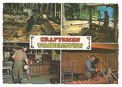 NSW - c1970s POSTCARD - CRAFTSMEN OF TIMBERTOWN, WAUCHOPE, NEW SOUTH WALES