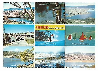 NSW - c1970s POSTCARD - MULTIVIEW JINDABYNE, SNOWY MOUNTAINS, NEW SOUTH WALES