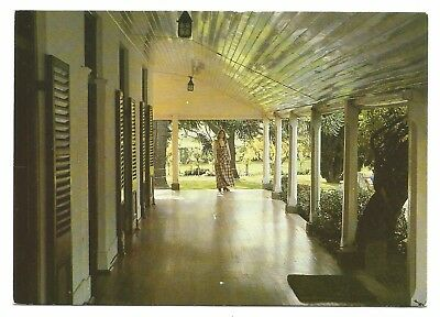 ACT - c1970s POSTCARD - GRACEFUL VERANDAH OF LANYON HOMESTEAD NEAR CANBERRA, ACT