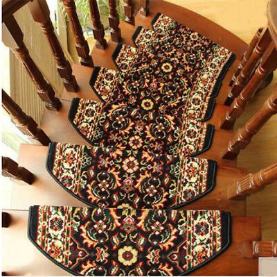 D27 5PCS Household Skid Resistance Step Rug Stair Tread Mat Carpet 100X24CM Z
