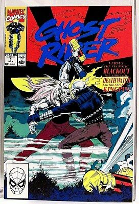 """""""GHOST RIDER"""" Issue # 3 (July, 1990) Comic Book (Marvel Comics) f. THE KINGPIN"""