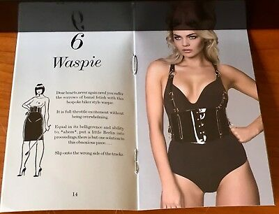 Honey Birdette Black Liquid Leather Waspie with Straps L SOLD OUT