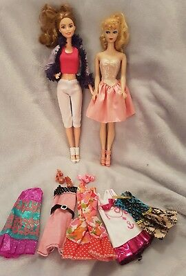 Barbie dolls shoes and clothes bulk lot pre loved   #10