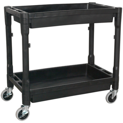 Sealey 2 Level Heavy Duty CompositeTrolley Black