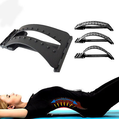 Back Muscle Stretcher Posture Corrector Support Pad Lumbar Massaging Acupuncture