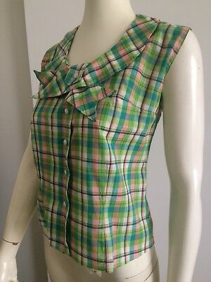 Original Vintage 50s 60s Ladies Top Blouse Pinup,Mod , Go Go, Rockabilly