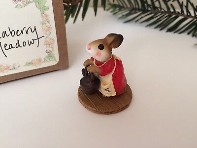 Teaberry Meadow Bunny, Ltd. SPECIAL Christmas Color, Like Wee Forest Folk  - NEW
