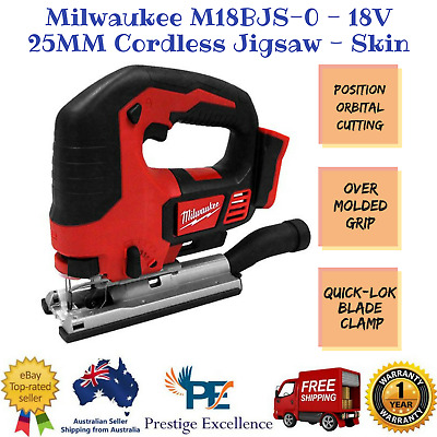 New Milwaukee M18BJS-0 - 18V 25MM Cordless Jigsaw - Skin with Over Molded Grip