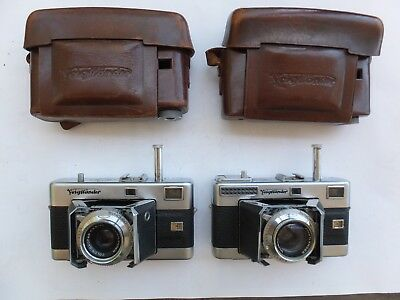 Vintage Voigtlander Vitessa x 2  Ultron 1:2/50mm & Scopar 3,5/50mm with Cases
