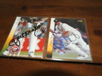 Signed Select 97 Michael Slater Graduates Test Card  (63)