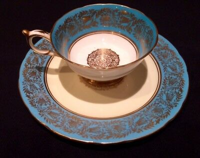 Paragon Teal & Gold - Tea Set - H.M. The Queen & HM The Queen Mary