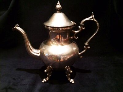 Beautiful Victorian Elaborate Large Silver Plated Coffee Pot