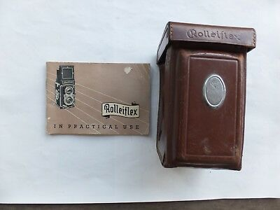 Vintage Rollei, Rolleiflex Camera Case with Strap & Rolleiflex Automat Manual