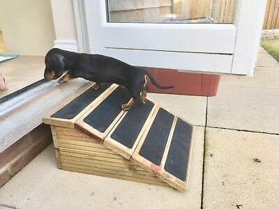 12cm High Outside Step/Patio Ramp, All Solid Wood