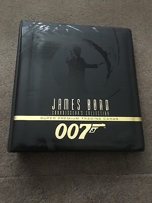James Bond Connoisseur's Collection Trading Card Folder and 270 Card Set - Rare