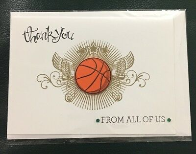 Thank You Basketball Coach handmade card - Stampin Up