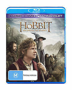 """The Hobbit An Unexpected Journey (Blu-ray only) """"Like New"""" Free Postage"""