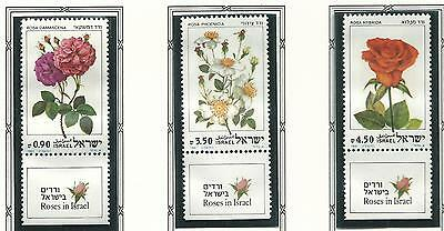1981 Roses set 3 all with Tabs  MUH/MNH  as Issued