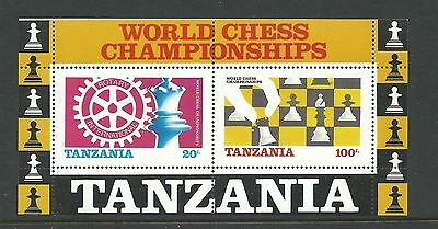 1986 World Chess Championships - Rotary International  Mini Sheet MUH/MNH