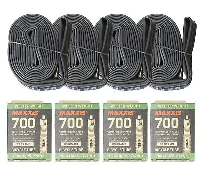 Maxxis Welter Weight Road Bike Bicycle Inner tube 700x18/25C FV48L pack of 4