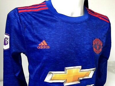 New Adidas,Manchester United Football Shirt with Long Sleeve (M)
