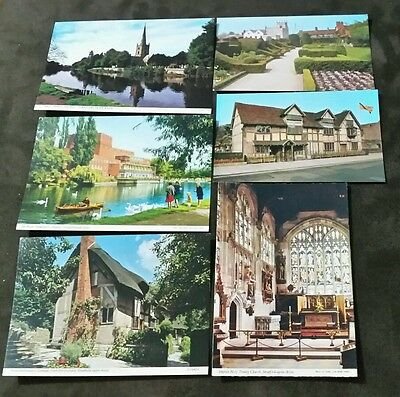 POSTCARDS: ENGLAND, STRATFORD UPON AVON x 6