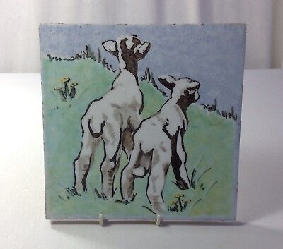 Large Dunsmore Polly Brace Lambs Tile