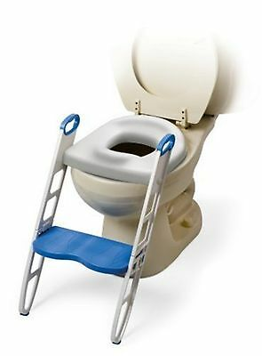 Mommy's Helper Contoured Cushie Step Up Potty Seat, White, Blue, 1-Pack 1 Pack
