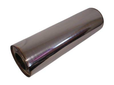 Universal Muffler Round Stainless Steel 3 5/32In 7 13/16x16 17/32in Fox